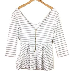 VS Body Striped Peplum Ballet Top